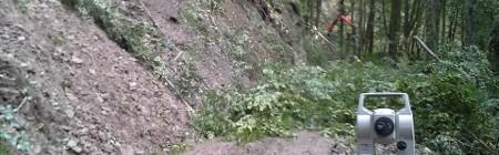 geodetske meritve na odseku ceste Zatolmin planina Polog