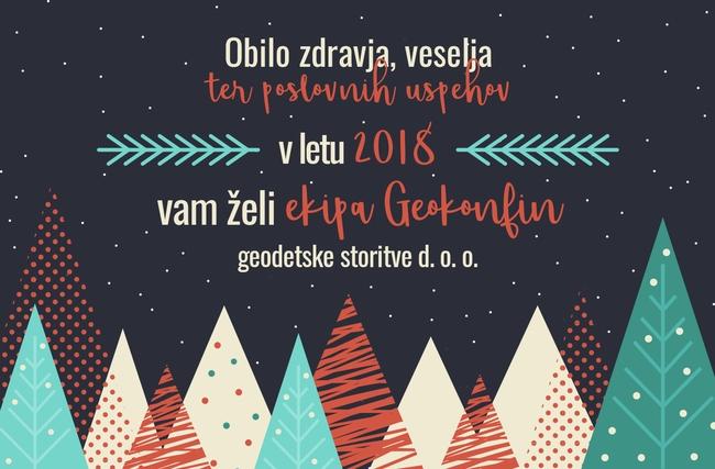 GEOKONFIN geodetske storitve d.o.o. Novoletno voščilo 2018
